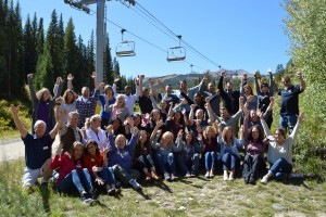 Class Retreat class photo arms up!